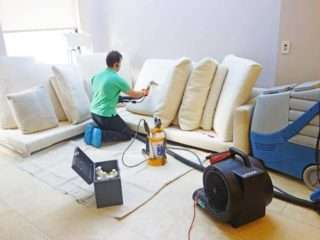 Steam Upholstery Cleaning